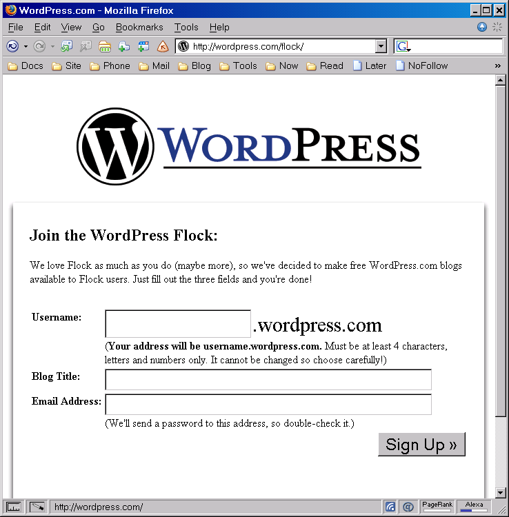 WordPress.Com Free Invite
