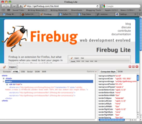 Safari-Firebug-Lite-plugins