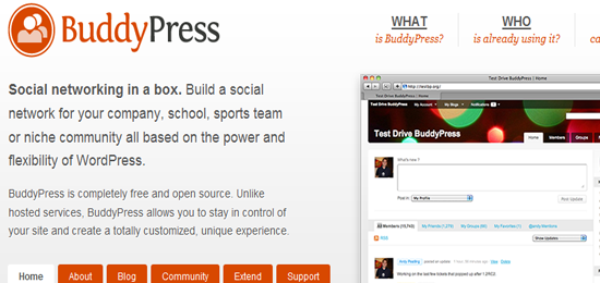 BuddyPress-social-open-source