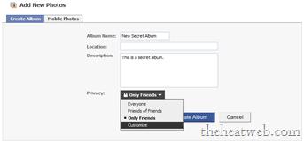Hide A New Photo Album In <b>Facebook</b>